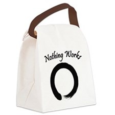 Nothing Works Enso Canvas Lunch Bag