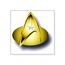 "star trek badge Square Sticker 3"" x 3"""