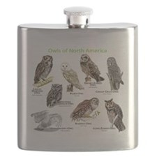 Owls of North America Flask