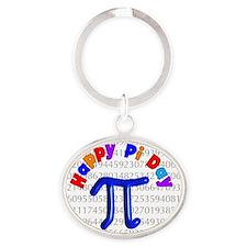 Happy Pi Day Oval Keychain