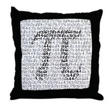 MATH GEEK Throw Pillow