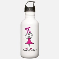 happy pi day stick lad Water Bottle