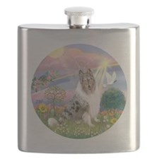R-CloudAngel-BlueMerleCollie Flask