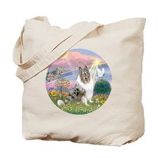 R-CloudAngel-BlueMerleCollie Tote Bag