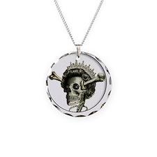 Queen di-faced button Necklace Circle Charm
