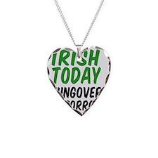 Irish Today Drinking Glass Necklace