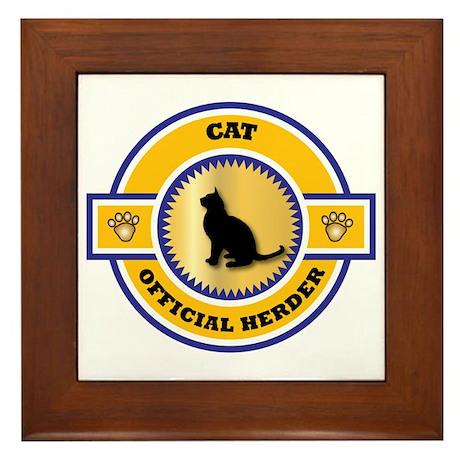 Cat Herder Framed Tile