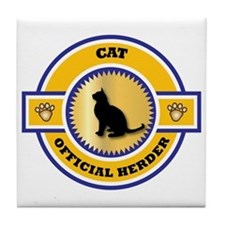 Cat Herder Tile Coaster