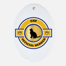 Cat Herder Oval Ornament