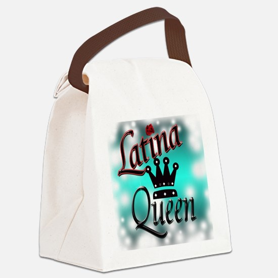 Latina Queen Canvas Lunch Bag