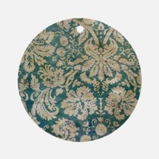 Pillow Grunge Blue D Round Ornament