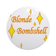 Blonde Bombshell Round Ornament
