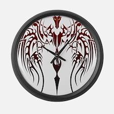 tribal dragon Large Wall Clock