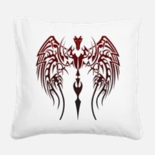 tribal dragon Square Canvas Pillow
