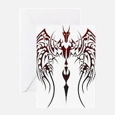 tribal dragon Greeting Card
