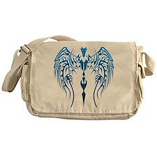 blue tribal dragon Messenger Bag