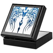 blue tribal dragon Keepsake Box
