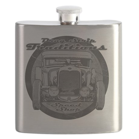 drag strip traditions BW Flask