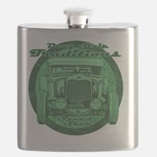drag strip traditions green Flask