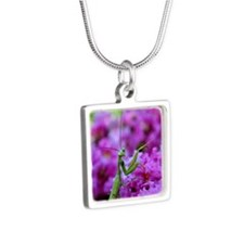 Keepsake Box Preying Manti Silver Square Necklace