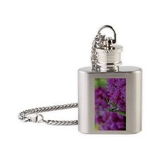 Greeting Card Pink Preying Mantis Flask Necklace