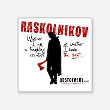 """Raskolnikov. Crime and Puni Square Sticker 3"""" x 3"""""""