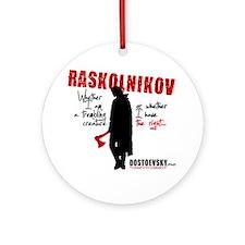 Raskolnikov. Crime and Punishment T Round Ornament