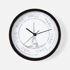 VintageFrance8Bk Wall Clock