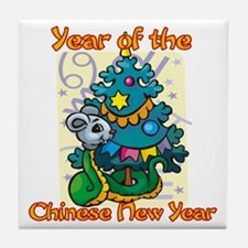 Chinese New Year Year of the Snake Tile Coaster