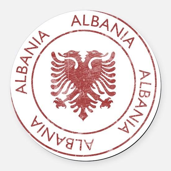 albania9 Round Car Magnet