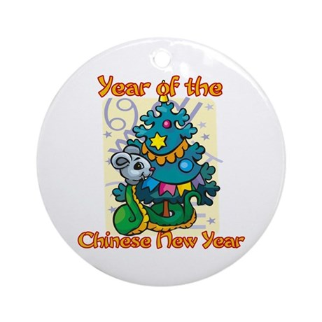 Chinese New Year Year of the Snake Ornament (Round