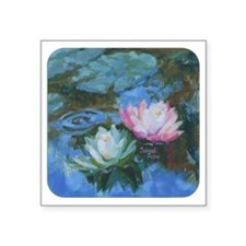 """Water Lily Square Sticker 3"""" x 3"""""""