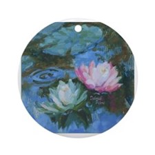 Water Lily Round Ornament