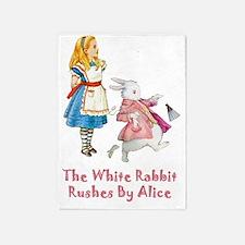 Alice  The White Rabbit1 copy 5'x7'Area Rug