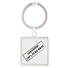 Certified Brat Square Keychain