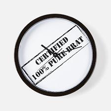 Certified Brat 2 Wall Clock