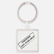 Certified Brat 2 Square Keychain
