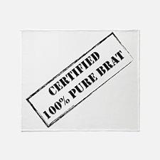 Certified Brat 2 Throw Blanket