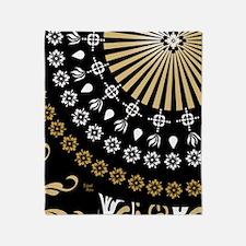 Global Art Black Throw Blanket