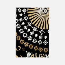 Global Art Black Rectangle Magnet