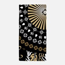 Global Art Black Beach Towel