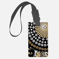 Global Art Black Luggage Tag