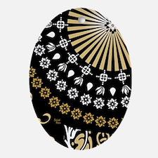 Global Art Black Oval Ornament