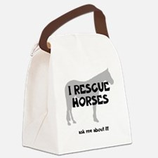 IRescuehorses Canvas Lunch Bag