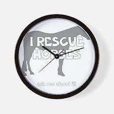 IRescuehorses_black Wall Clock