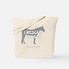 IRescuehorses_black Tote Bag