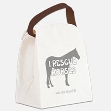 IRescuehorses_black Canvas Lunch Bag