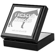 IRescuehorses_black Keepsake Box