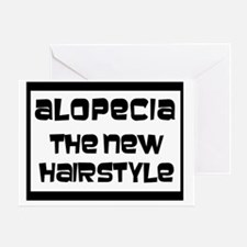 alopecia style2 Greeting Card