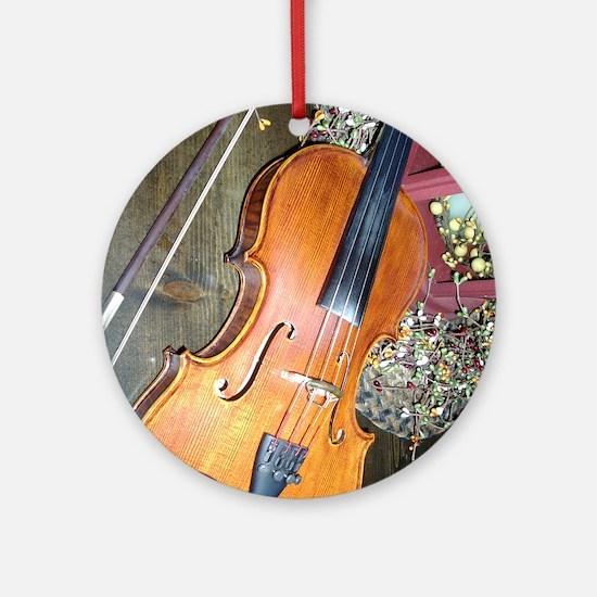 fiddle Round Ornament
